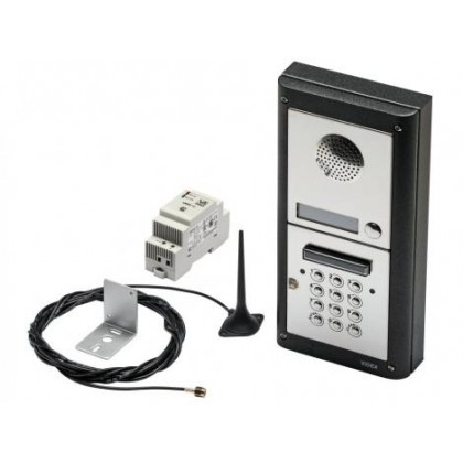 Videx GSM/4KCS surface mount audio Intercom kit with code lock with 1 - 10 buttons