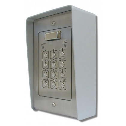 Videx 51P surface mount stainless 100 code 2 relay code lock keypad