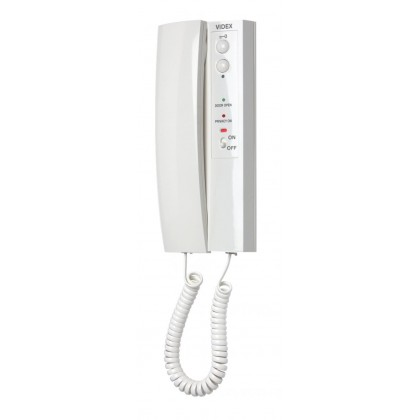 Videx 3181 VX2300 system 2 button handset with timed mute, mute LED and door open LED